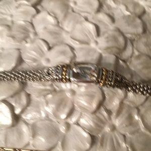 White topaz Lagos caviar bracelet
